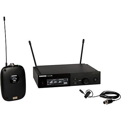 Shure SLXD14/DL4 Wireless System with SLXD1 Bodypack Transmitter, SLXD4 Receiver, and DL4B Lavalier Microphone