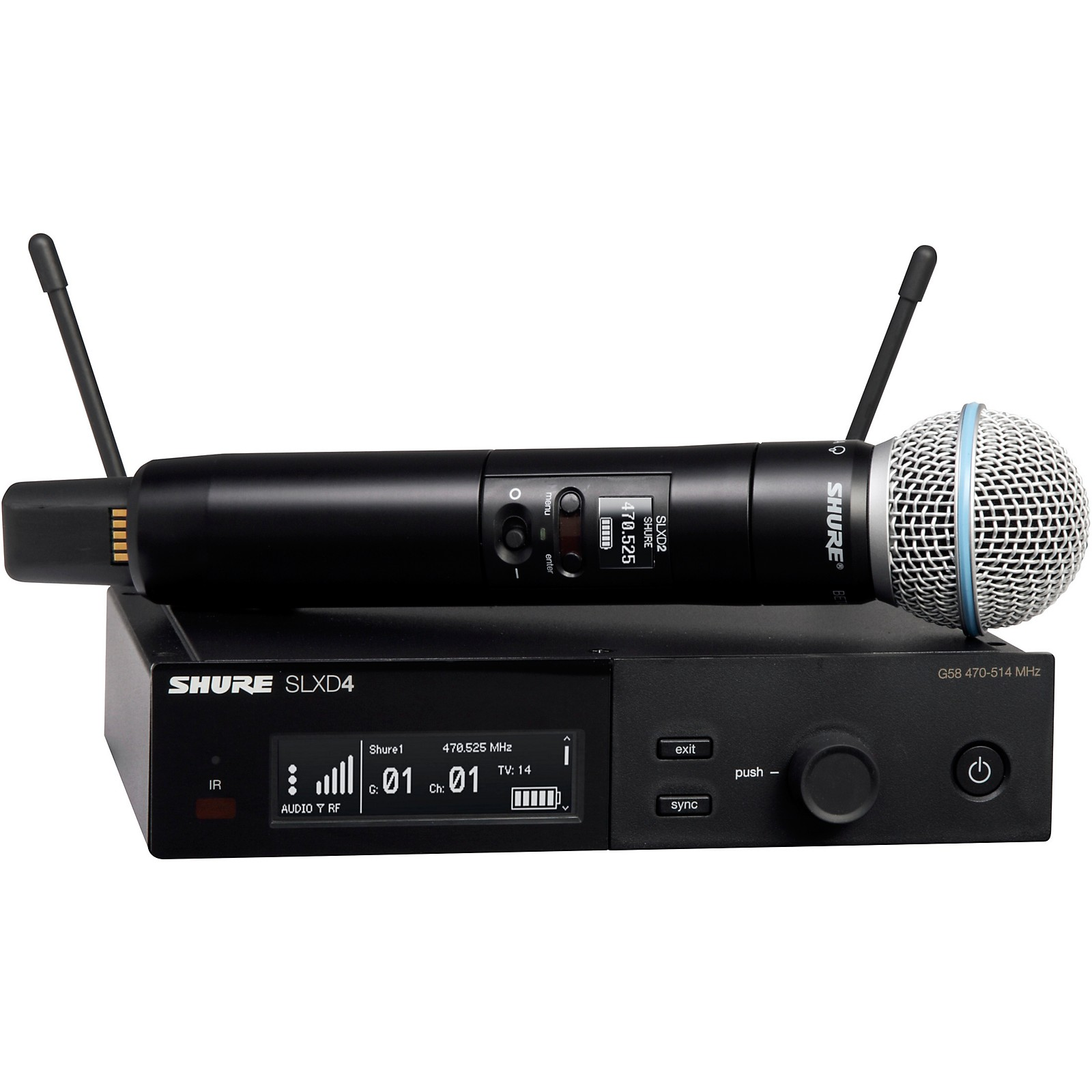 Shure SLXD24/B58 Wireless Vocal System with BETA 58