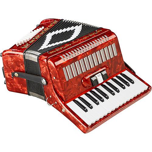 Sofiamari SM-2648, 26 Piano 48 Bass Accordion Red Pearl