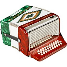 SM-3112 31-Button 12 Bass Accordion GCF Red and Green Pearl
