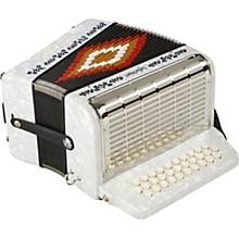 SM-3112 31-Button 12 Bass Accordion GCF White Pearl