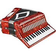 SM-3232 32 Piano 32 Bass Accordion Red Pearl