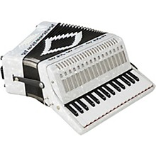 SM-3232 32 Piano 32 Bass Accordion White Pearl