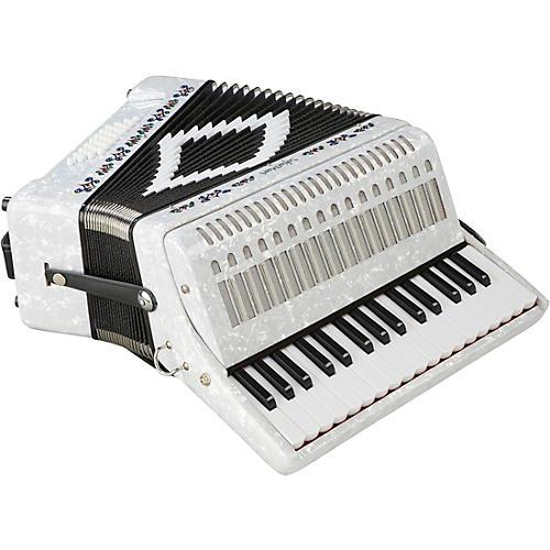 Sofiamari SM-3232 32 Piano 32 Bass Accordion White Pearl