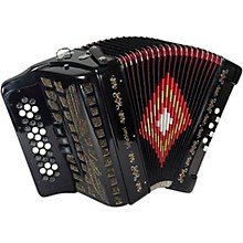 SM-3412 34-Button 12-Bass Accordion GCF Black Pearl