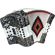 SM-3412 34-Button 12-Bass Accordion GCF Gray/White/Gray Pearl