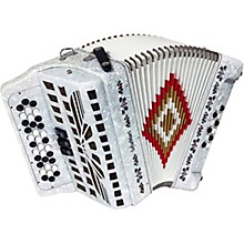 SM-3412 34-Button 12-Bass Accordion GCF White Pearl