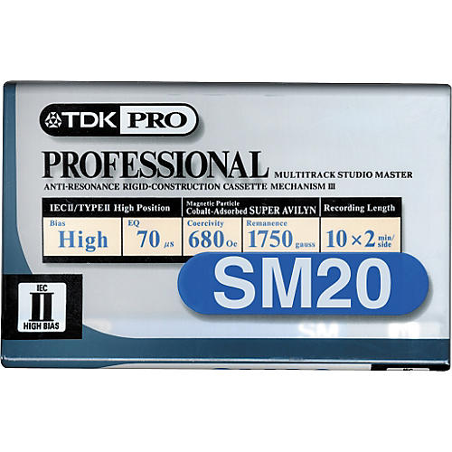 TDK SM20 20 MIN Professional Audio Cassette