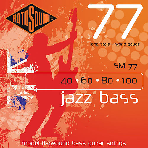 Rotosound SM77 Jazz Bass Monel Flatwound Strings
