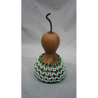 """Shaker SMALL 5"""" SHEKERE WH/GRN Hand Percussion"""