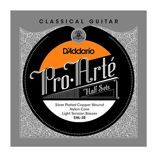 D'Addario SNL-3B Pro-Arte Light Tension Classical Guitar Strings Half Set