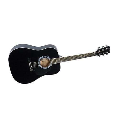 Johnson SO-610-T-BK Dreadnought Acoustic Guitar