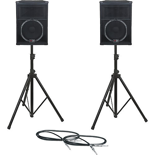 Peavey SP 5 Speaker Pair with Stands and Cables