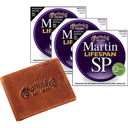 Martin SP7050 Lifespan Custom Light 3-Pack with Martin Wallet