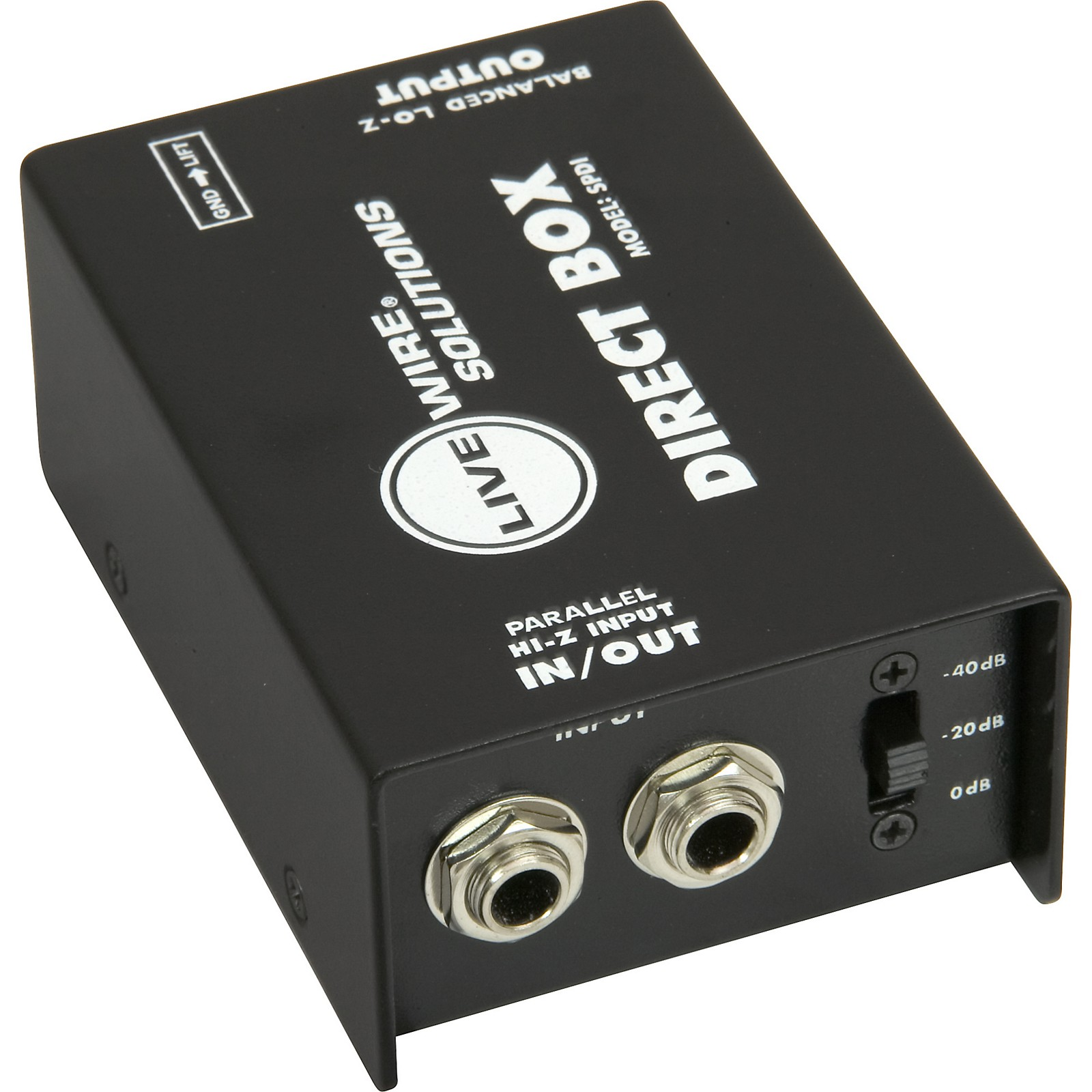 Livewire SPDI Passive Direct Box with Attenuation Pad