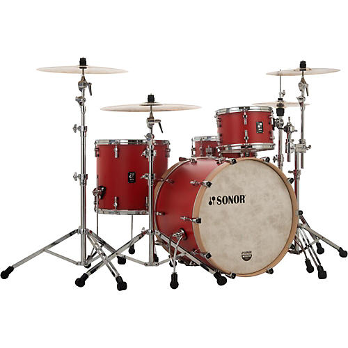 SONOR SQ1 3-Piece Shell Pack with 22 in. Bass Drum Hot Rod Red