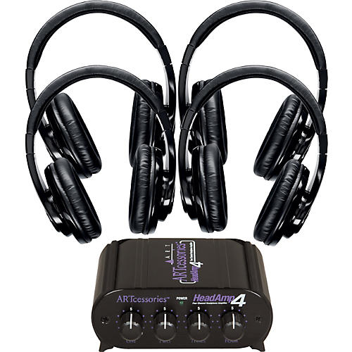 Shure SRH240 Four Pack w/ HeadAMP 4 Headphone Amp