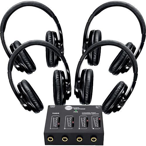 Shure SRH240 Four Pack with HA04 Headphone Amp