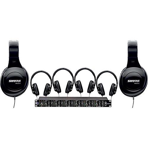 Shure SRH240 Six Pack w/ HeadAMP6PRO Headphone Amp
