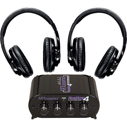 Shure SRH240 Two Pack w/ HeadAMP 4 Headphone Amp
