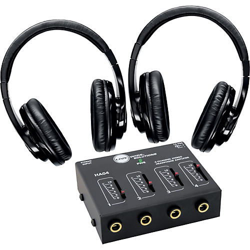 Shure SRH240 Two Pack with HA04 Headphone Amp