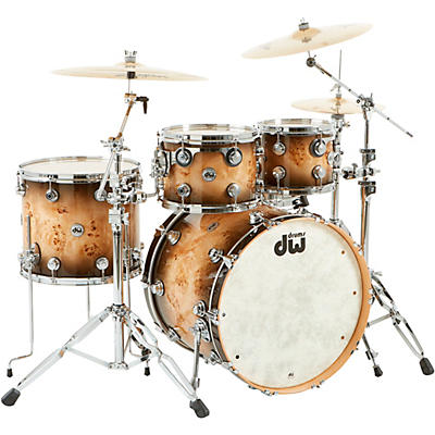 """DW SSC Collector's Series 4-Piece Exotic Maple Shell Pack with 22"""" Bass Drum and Chrome Hardware"""