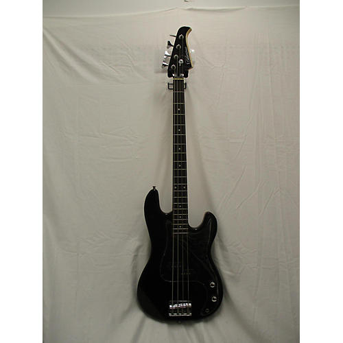 Silvertone SSLB11 Electric Bass Guitar Black