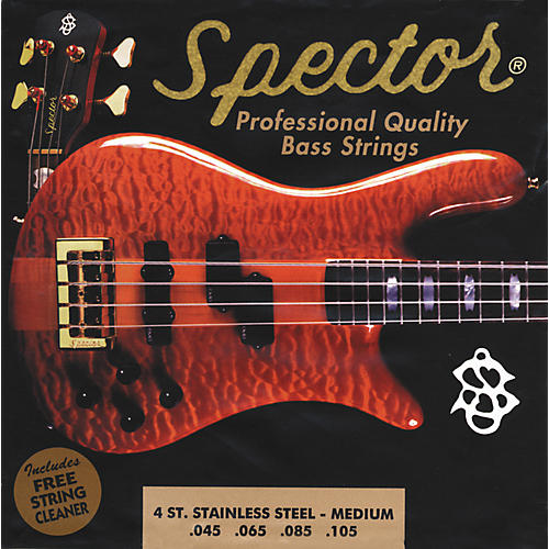 Spector STSS45-105 4-String Stainless Medium Bass Strings