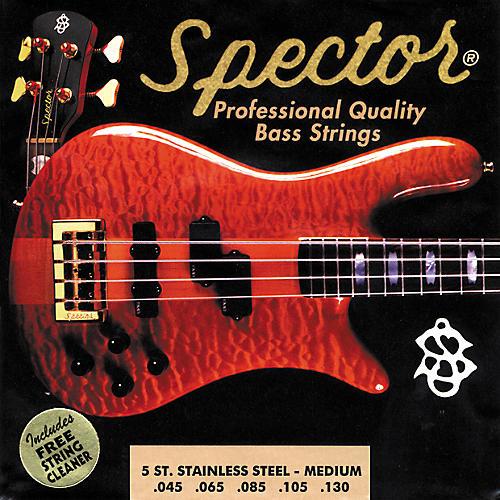 Spector STSS45-130 5-String Stainless Medium Bass Strings