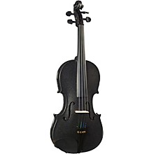 Open Box Cremona SV-130BK Series Sparkling Black Violin Outfit