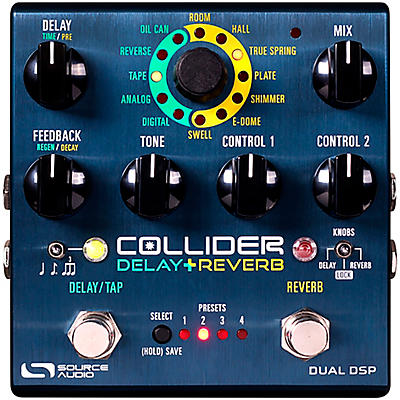 Source Audio Sa263 Collider Stereo Delay Reverb Effects Pedal