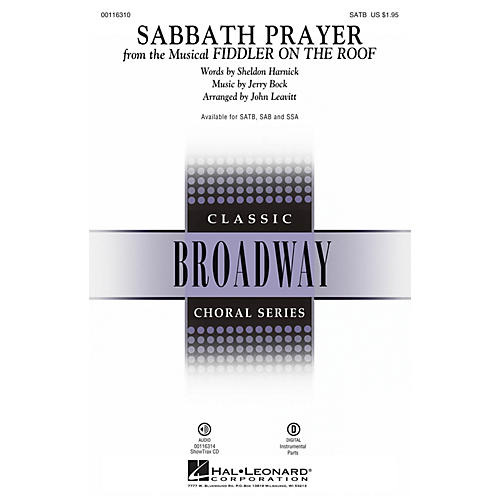 Hal Leonard Sabbath Prayer (from Fiddler on the Roof) SATB by Fiddler On The Roof (Musical) by John Leavitt