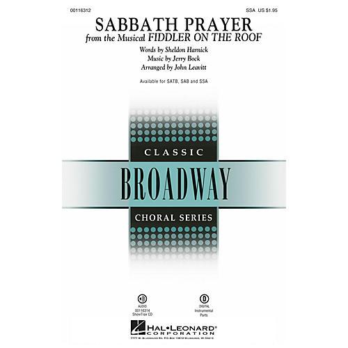 Hal Leonard Sabbath Prayer (from Fiddler on the Roof) SSA by Fiddler On The Roof (Musical) by John Leavitt