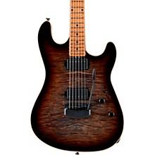 Open BoxErnie Ball Music Man Sabre HH Maple Fingerboard Black Hardware Electric Guitar