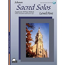 SCHAUM Sacred Solos - Level Five Educational Piano Book with CD (Level Upper Inter)