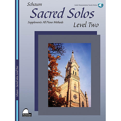 SCHAUM Sacred Solos (Level Two) Educational Piano Book with CD (Level Early Inter)