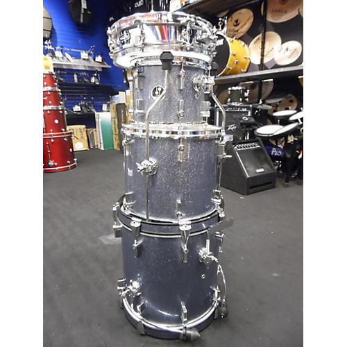 SONOR Safari 4 Pc Kit Drum Kit Silver Galaxy Sparkle