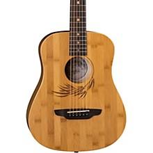 Luna Guitars Safari Bamboo 3/4 Satin Natural Acoustic Guitar