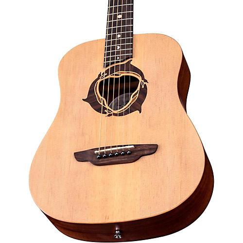 Luna Guitars Safari Dolphin 3/4 Size Travel Acoustic Guitar