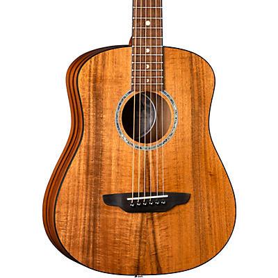 Luna Guitars Safari Solid Koa Top 3/4 Size Acoustic/Electric Guitar