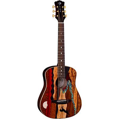 Luna Guitars Safari Stallion Acoustic-Electric Travel Guitar with Gigbag