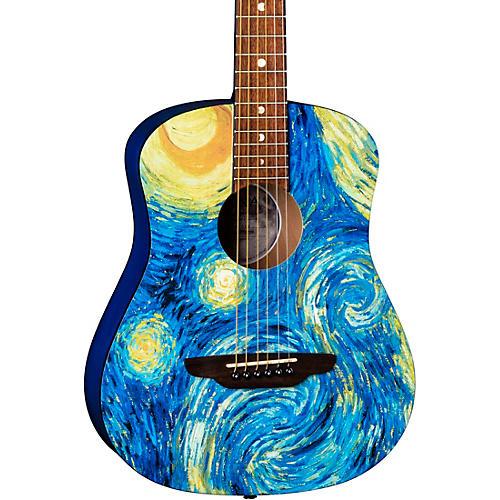 Luna Guitars Safari Starry Night 3/4 Size Travel Acoustic Guitar