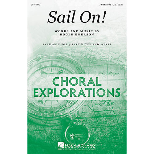 Hal Leonard Sail On! 3-Part Mixed composed by Roger Emerson