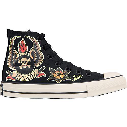 Converse Sailor Jerry Chuck Taylor All Star Skull Wings Hi-Top Shoes