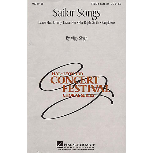 Hal Leonard Sailor Songs (Collection) TTBB A Cappella arranged by Vijay Singh