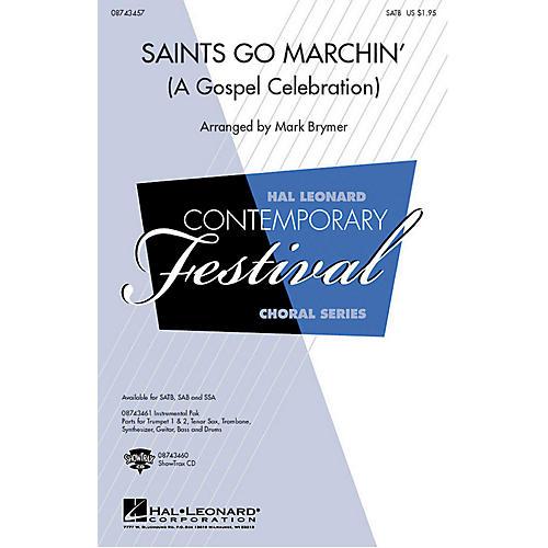Hal Leonard Saints Go Marchin' (A Gospel Celebration!) SAB Arranged by Mark Brymer