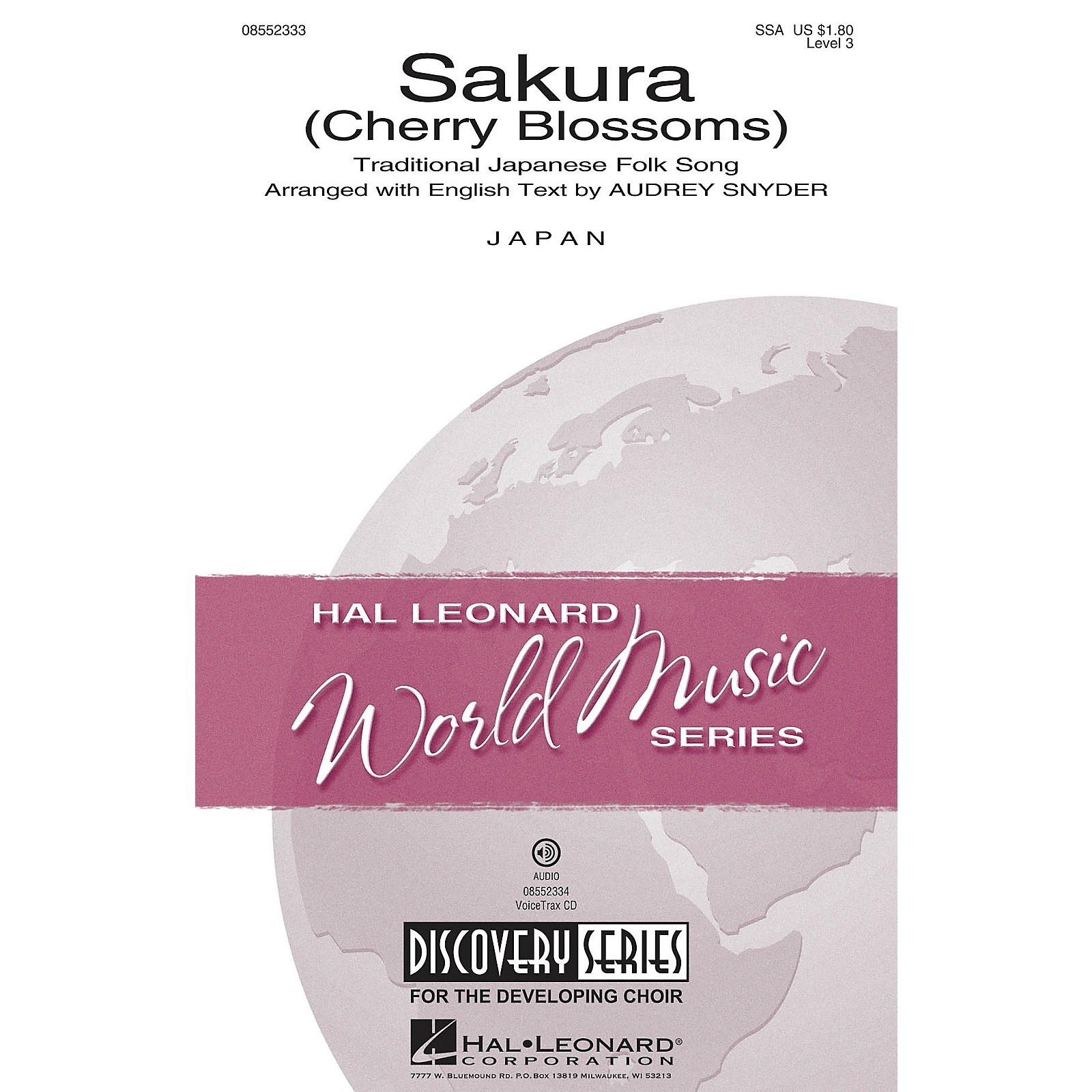 Hal Leonard Sakura (Cherry Blossoms) Discovery Level 3 SSA arranged by Audrey Snyder