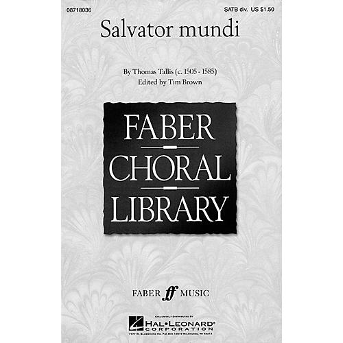 Hal Leonard Salvator Mundi (SATB divisi a cappella) SATB DV A Cappella arranged by Tim Brown
