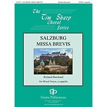 Gentry Publications Salzburg Missa Brevis SATB a cappella composed by Richard Burchard