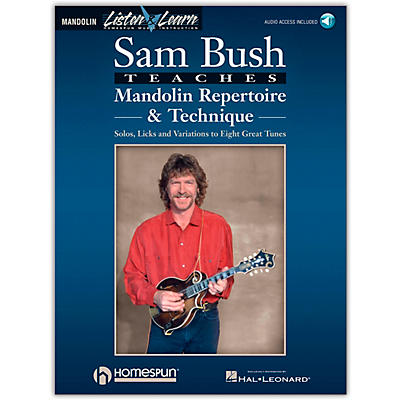 Homespun Sam Bush Mandolin Repertoire & Technique - Listen & Learn Series (Book/Online Audio)